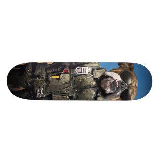 Pilot dog,funny bulldog,bulldog skateboard deck