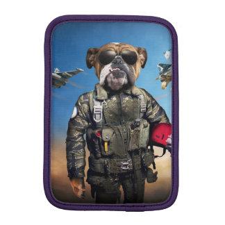 Pilot dog,funny bulldog,bulldog sleeve for iPad mini
