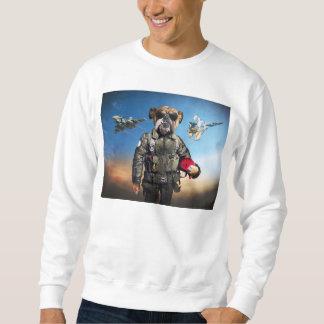 Pilot dog,funny bulldog,bulldog sweatshirt