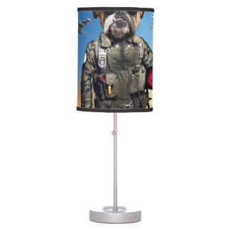 Pilot dog,funny bulldog,bulldog table lamp