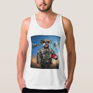 Pilot dog,funny bulldog,bulldog tank top