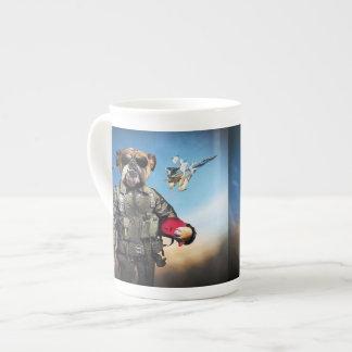 Pilot dog,funny bulldog,bulldog tea cup