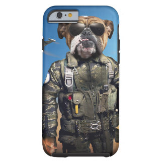 Pilot dog,funny bulldog,bulldog tough iPhone 6 case