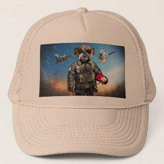 Pilot dog,funny bulldog,bulldog trucker hat