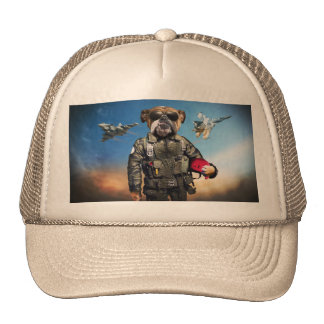 Pilot dog,funny bulldog,bulldog trucker hat