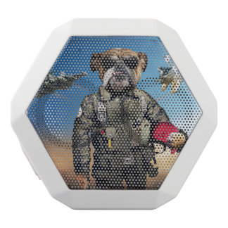 Pilot dog,funny bulldog,bulldog white bluetooth speaker