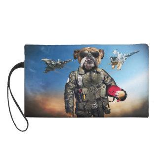 Pilot dog,funny bulldog,bulldog wristlets