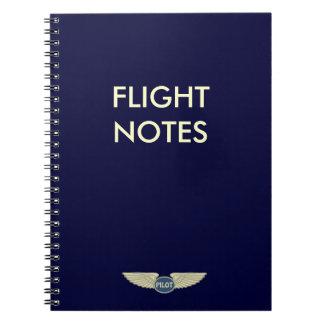 Pilot Flight Notes Spiral Notebook