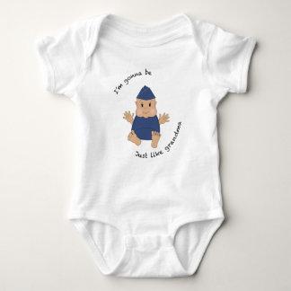 Pilot grandma baby bodysuit