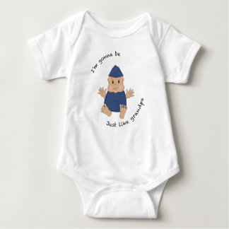 Pilot grandpa baby bodysuit