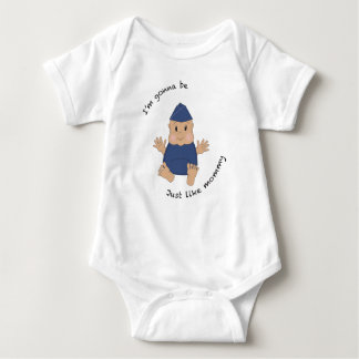 Pilot mommy baby bodysuit