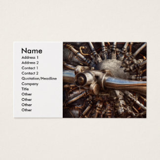 Pilot - Plane - Engines at the ready Business Card