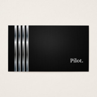 Pilot Professional Black Silver Business Card