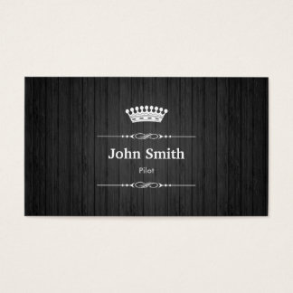 Pilot Royal Black Wood Grain Business Card