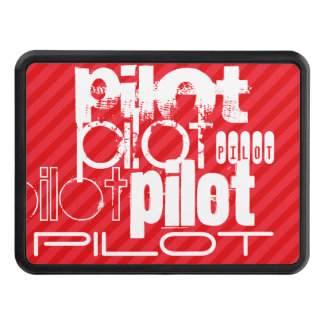 Pilot; Scarlet Red Stripes Trailer Hitch Cover