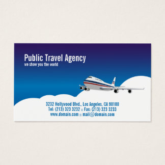 Pilot Travel Agency Tour Guide Business Card
