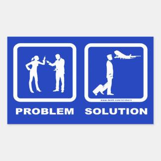 Pilot Wife Plane Problem Solution Sticker