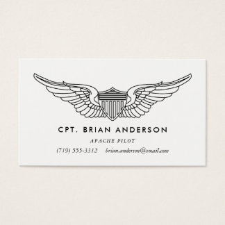 Pilot Wings Professional Aviator Business Card