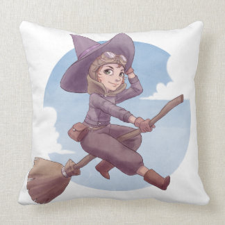 Pilot Witch Throw Pillow