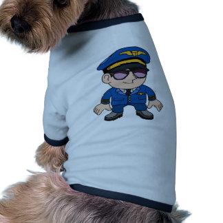 Pilote de vol dans des lunettes de soleil tee-shirt pour toutou