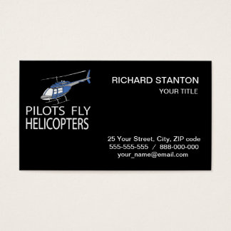 Pilots fly helicopters business card