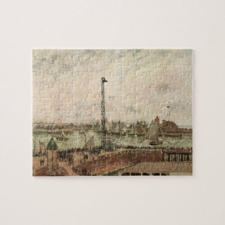 Pilot's Jetty, Le Havre by Camille Pissarro Jigsaw Puzzle