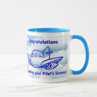 Pilots license. Getting your wings. Congratulation Mug
