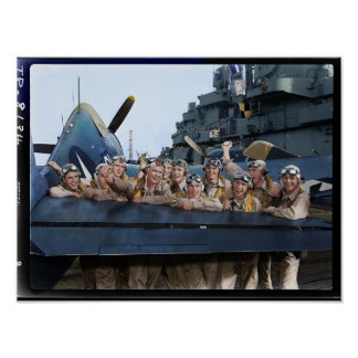 Pilots of USS Lexington CV16 Poster