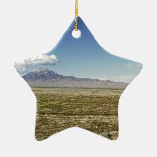 Pilot's Peak Panorama 1 Ceramic Star Ornament