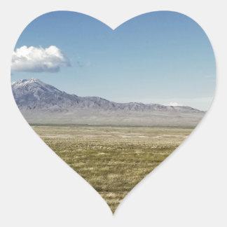 Pilot's Peak Panorama 1 Heart Sticker