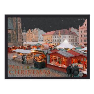 Pilsen - lumières du marché de Noël Cartes Postales
