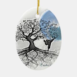 Pima Karate Ceramic Ornament