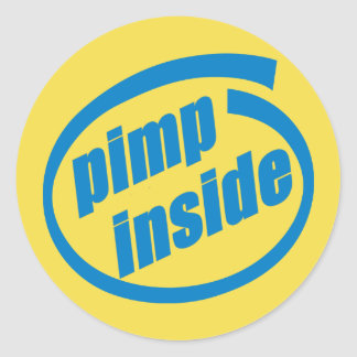 Pimp Inside 3 inch sticker (sheet of 6)