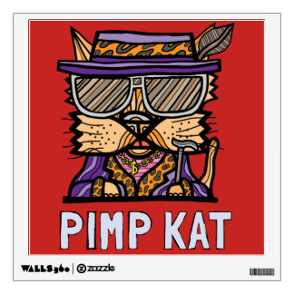 """Pimp Kat"" Square Wall Decal"