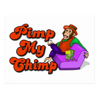 Pimp My Chimp Postcard