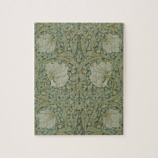 Pimpernel by William Morris Vintage Floral Textile Jigsaw Puzzle
