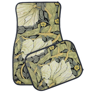 Pimpernel Yellow Green Floral Pattern Vintage Wall Floor Mat