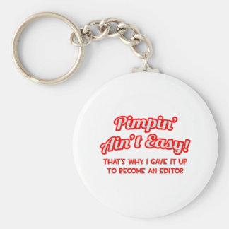 Pimpin' Ain't Easy .. Editor Keychain