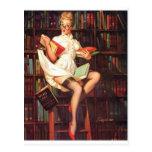 Pin de bibliothécaire carte postale
