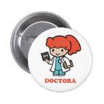 Pin de docteur macaron rond 5 cm