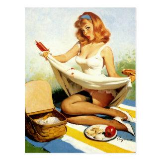 Pin- de pique-nique carte postale