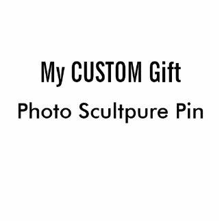 Pin de sculpture en photo imprimé par coutume macaron photo sculpture