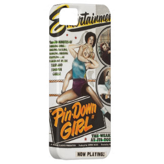 Pin Down Girl Lady Wrestlers Vintage Movie Poster iPhone 5 Cases