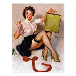 Pin- enveloppant le présent carte postale