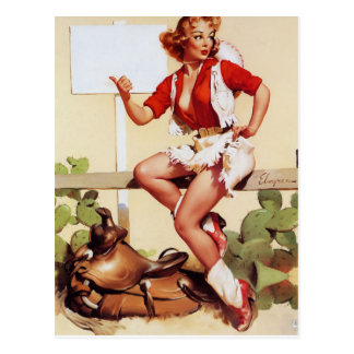 Pin- haut étourdi carte postale
