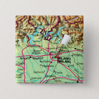 Pin Map of the city of Milan, Italy