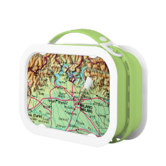 Pin Map of the city of Milan, Italy Lunchboxes