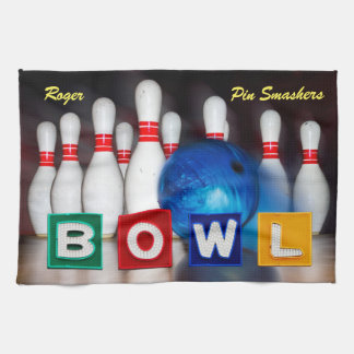 Pin Smashers Bowling Kitchen Towel