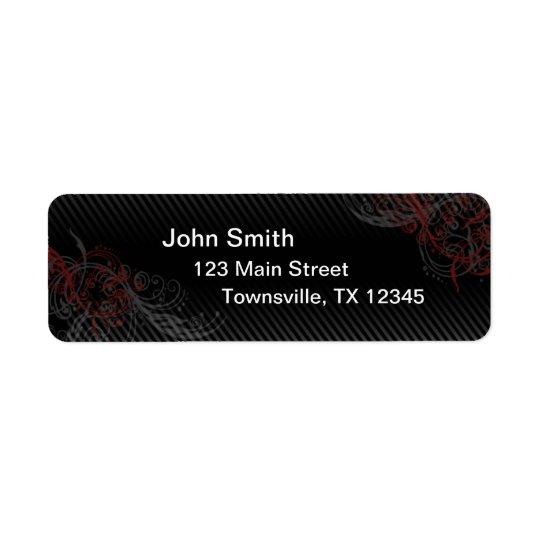 Pin Stripe Return Address Label