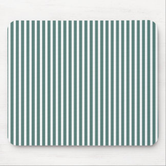 Pin-Stripe's(c) Unisex-Teal_White Mouse Pad